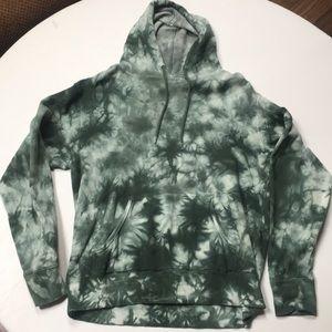 Wavy green hoodie